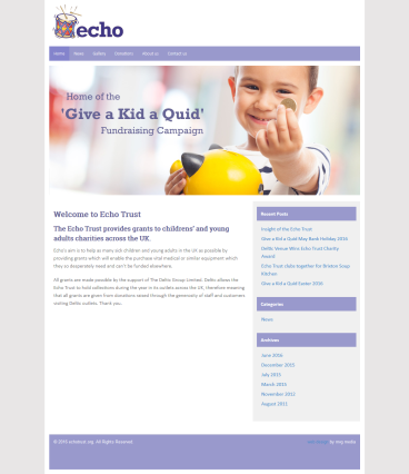 The Echo Trust Charity Website