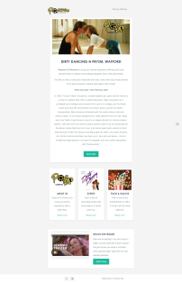 Popcorn and Prosecco Email Campaign