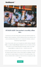 """December """"VIP of the Month"""" Email Campaign"""