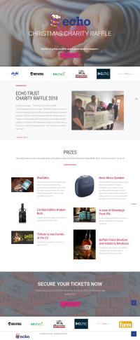 Echo Trust Christmas Charity Raffle: Landing Page (2019)